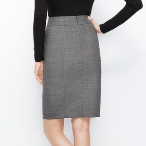 Ann Taylor Classic Gray Pencil Skirt